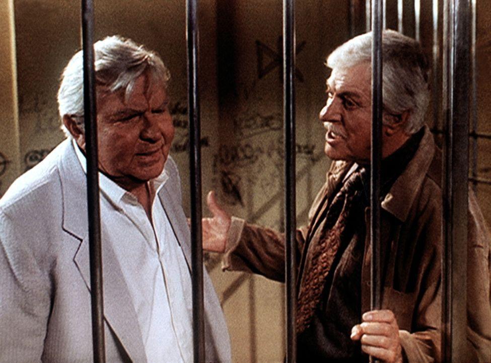 Mark (Dick Van Dyke, r.) bittet seinen alten Bekannten, den berühmten Anwalt Matlock (Andy Griffith, l.), Jesses Verteidigung zu übernehmen. - Bildquelle: Viacom