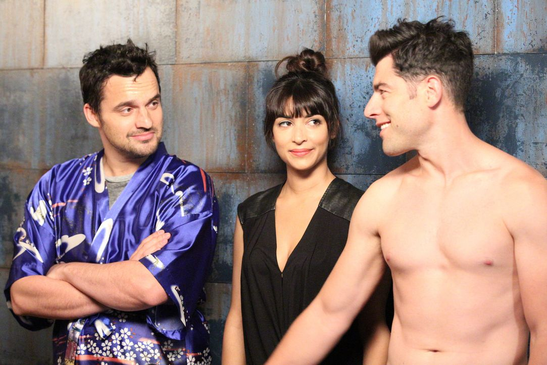 Sind immer für Jess da: Nick (Jake Johnson, l.), Cece (Hannah Simone, M.) und Schmidt (Max Greenfield, r.) ... - Bildquelle: 2014 Twentieth Century Fox Film Corporation. All rights reserved.
