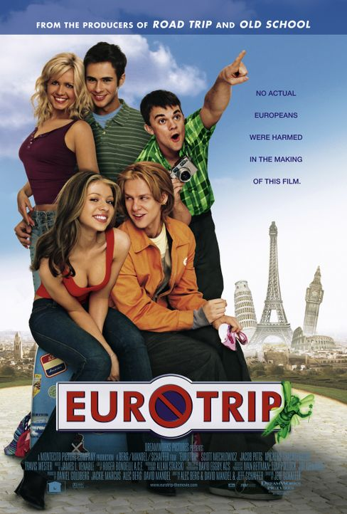 EuroTrip mit (v.l.n.r.) Jessica Böhrs, Michelle Trachtenberg, Scott Mechlowicz, Jacob Pitts und Travis Wester - Bildquelle: DreamWorks Distribution LLC