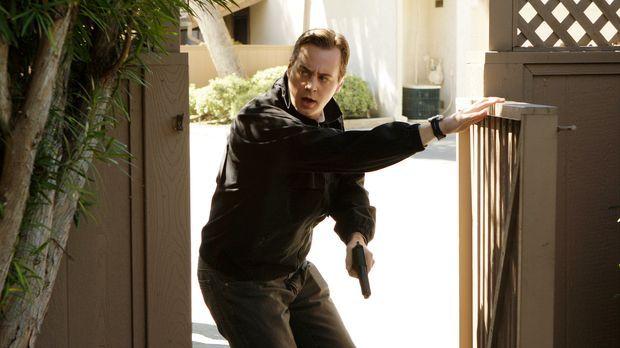 Was wird McGee (Sean Murray) beim Stürmen eines Hauses erwarten? © CBS Televi...