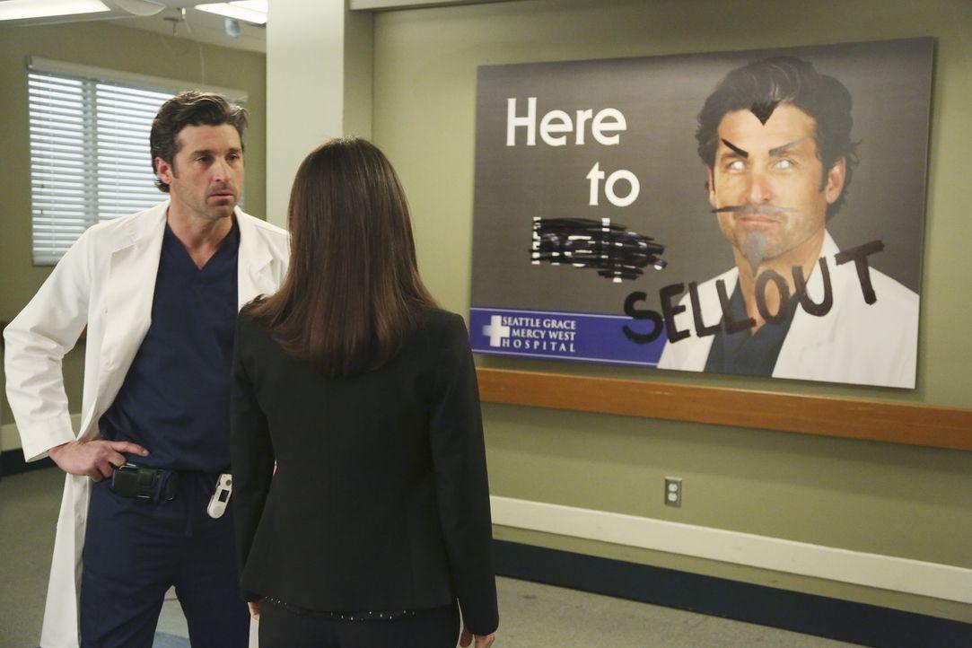 Dr. Derek Shepherd (Patrick Dempsey, l.) ist momentan in einer schwierigen Situation. Das Krankenhaus ist dabei sich völlig zu verändern. Nun übe... - Bildquelle: ABC Studios