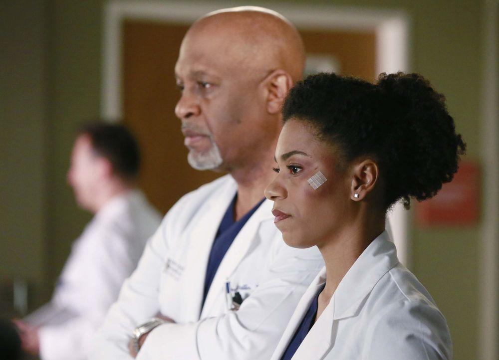 Während Arizona feststellen muss, dass Callie weiterzieht, geraten Richard (James Pickens Jr., l.) und Maggie (Kelly McCreary, r.) in eine Diskussio... - Bildquelle: ABC Studios