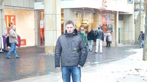 Citydetektiv Eugen hat in der Bielefelder Fußgängerzone vorwiegend Laden- und...