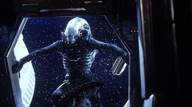 Alien im Raumschiff