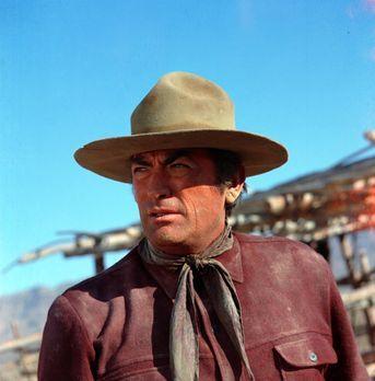 """Der große Schweiger - Sam Varner (Gregory Peck) ist als der """"große Schwe..."""