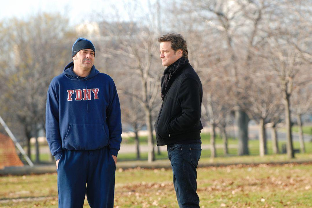 Wollen dieselbe Frau: Manager Richard (Colin Firth, r.) und Feuerwehrmann Patrick (Jeffrey Dean Morgan, l.) ... - Bildquelle: 2008 Accidental Husband Intermediary, Inc. All Rights Reserved.