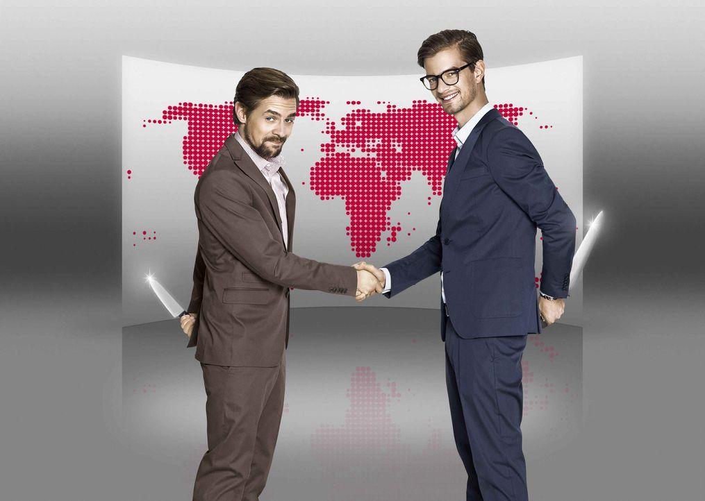 Globales Kräftemessen: Joko (l.) & Klaas (r.) spielen um die Welt! - Bildquelle: Marcus Höhn ProSieben
