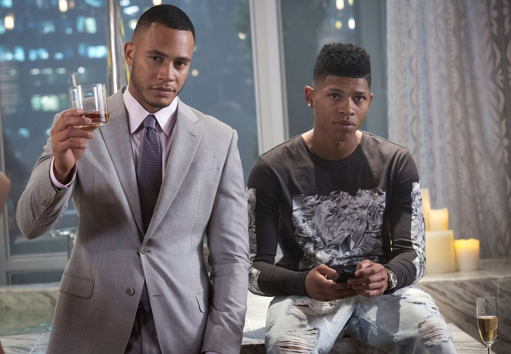 Hakeem (Bryshere Y. Gray, r.) und Andre (Trai Byers, l.) wollen endlich an die Spitze bei Empire - doch Lucious weiß, dies zu verhindern ... - Bildquelle: 2015-2016 Fox and its related entities.  All rights reserved.