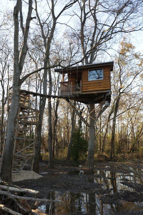 Am Rande des Mississippis träumt ein Baumhaus-Paar von einem zweiteiligen Haus in den Bäumen, indem sie Unterschlupf bei Überschwemmungen finden kön... - Bildquelle: 2016, DIY Network/Scripps Networks, LLC. All Rights Reserved.