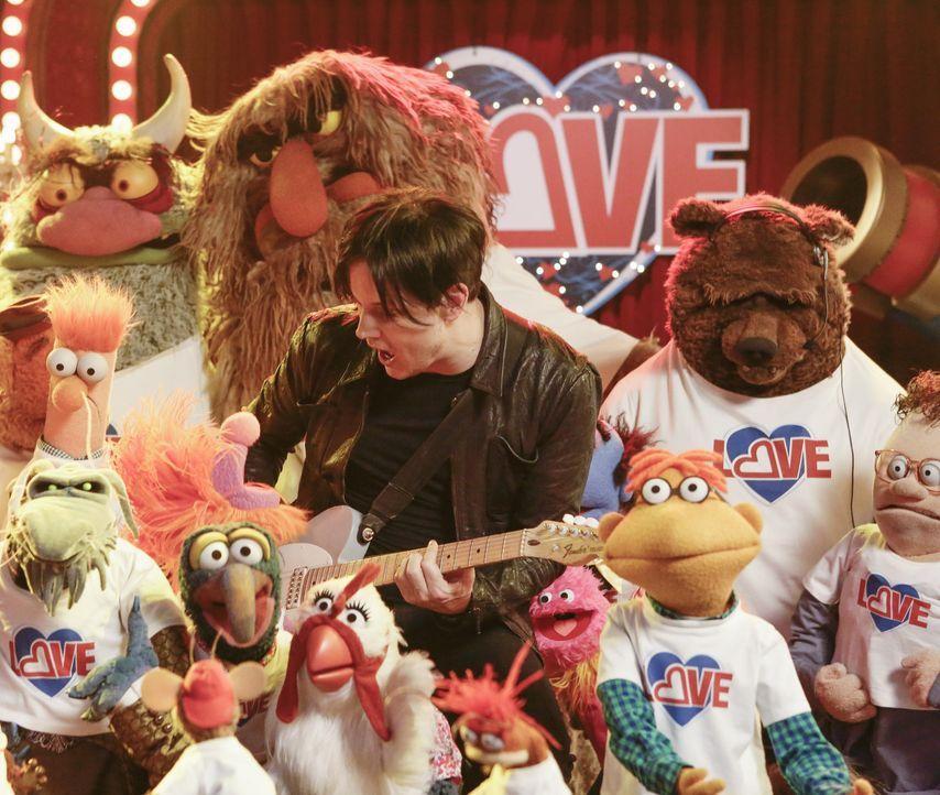 """Die vorerst letzte Ausgabe von """"Up Late with Miss Piggy"""" steht an: Die Muppets und Jack White (M.) geben alles, damit die Show ein Erfolg wird ... - Bildquelle: Nicole Wilder ABC Studios"""