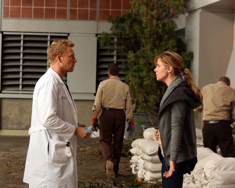 Das schwere Unwetter hat nicht nur äußerliche Spuren hinterlassen: Leah (Tessa Ferrer, r.) und Owen (Kevin McKidd, l.) ... - Bildquelle: ABC Studios