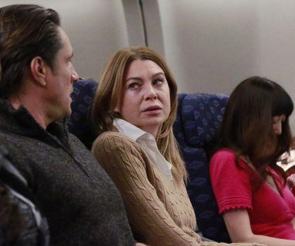 Als Meredith (Ellen Pompeo, M.) und Nathan (Martin Henderson, l.) während ein...