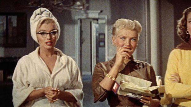 Die drei Frauen Pola (Marilyn Monroe, l.), Loco (Betty Grable, M.) und Schatz...
