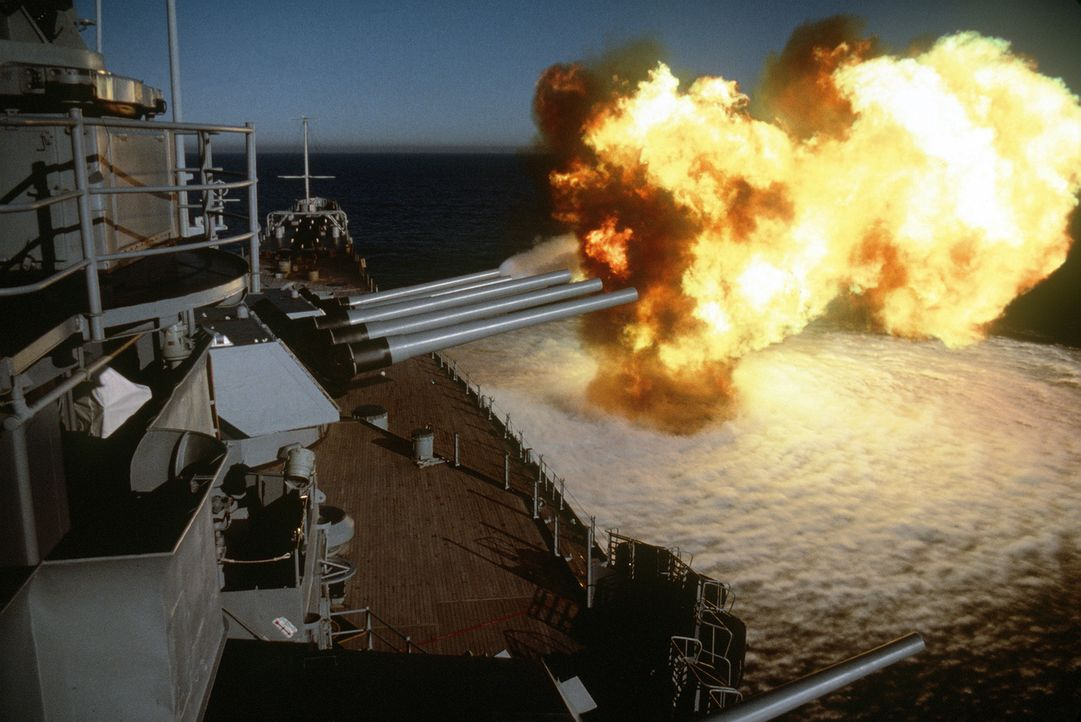 """Die """"USS New Jersey"""" war ein Schlachtschiff der United States Navy. Sie wurde 1943 in Dienst gestellt und ab 1944 im Zweiten Weltkrieg eingesetzt. I... - Bildquelle: Lou Reda Productions, Inc."""