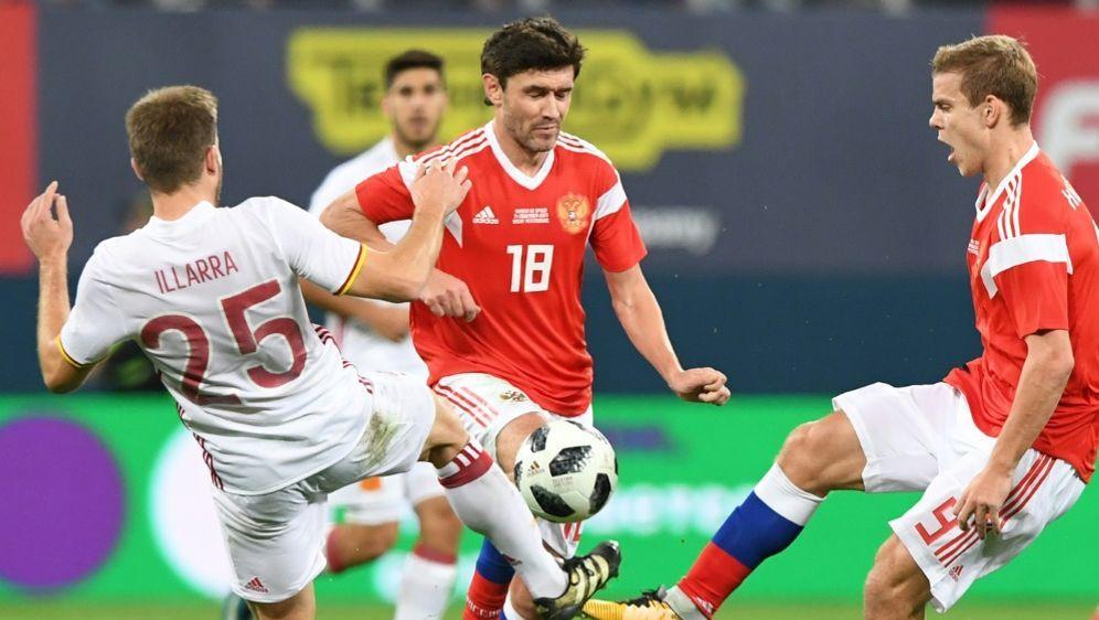 Russland erkämpft sich ein Unentschieden gegen Spanien - Bildquelle: AFPSIDKIRILL KUDRYAVTSEV