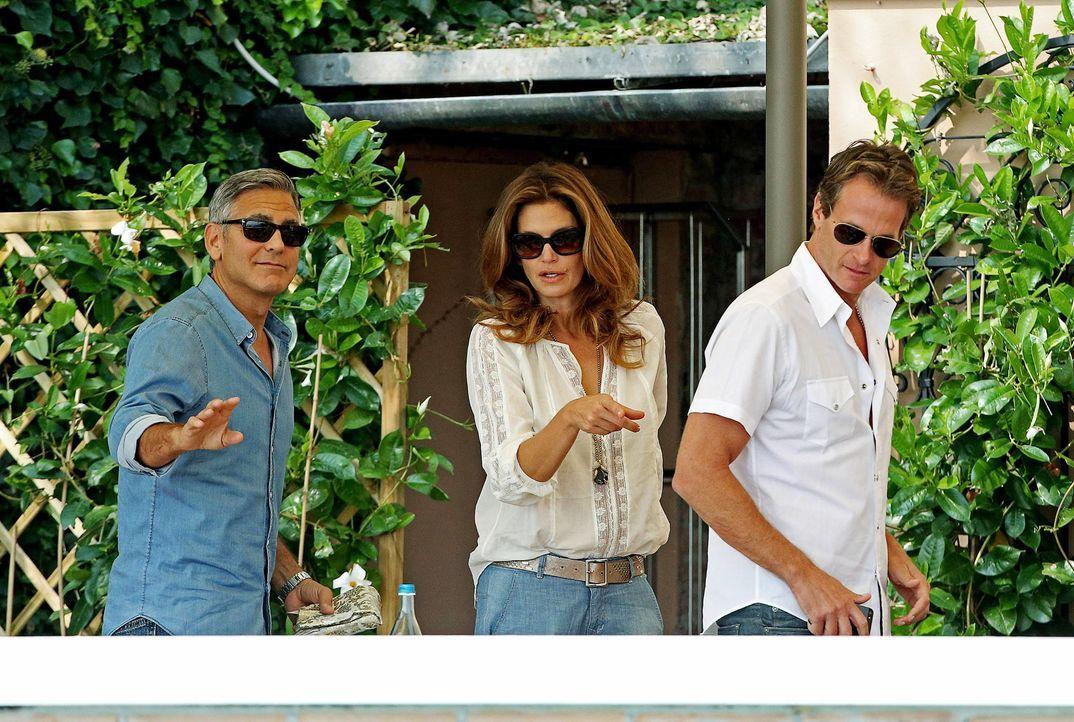 George- Clooney-Cindy- Crawford- - Rande- Gerber-14-09-27-dpa  - Bildquelle: dpa