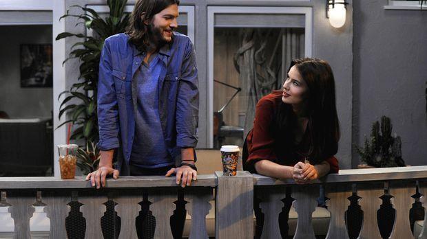 Während Walden (Ashton Kutcher, l.) sein Bestes tut um Zoey (Sophie Winkleman...
