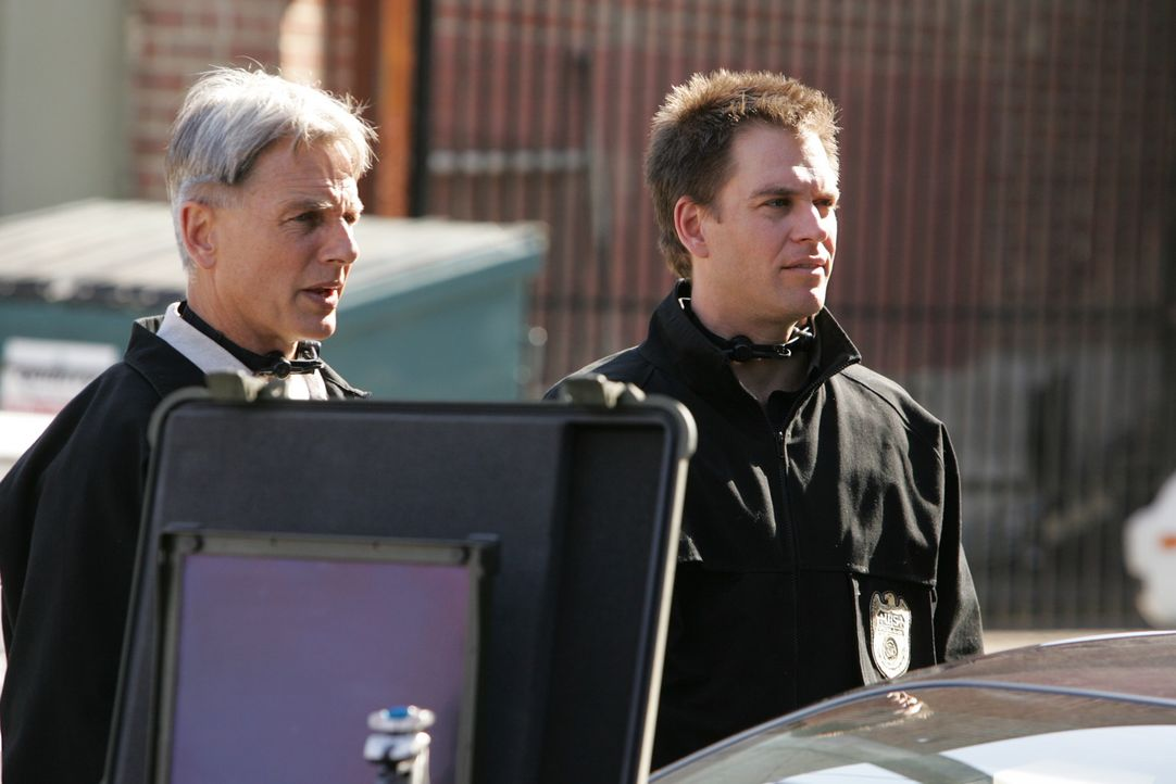 Versuchen Ari zur Strecke zu bringen: Tony (Michael Weatherly, r.) und Gibbs (Mark Harmon, l.) ... - Bildquelle: CBS Television