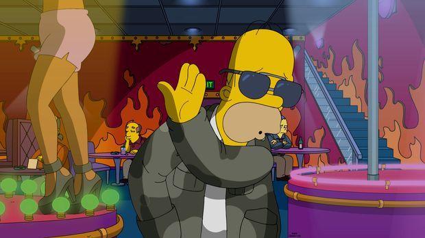 Da Homer (Foto) weiß, wie cool er ist, fällt es ihm nur schwer, sich mit Milh...