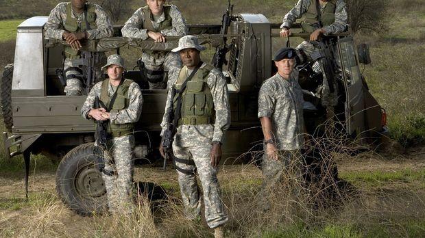 (1. Staffel) - The Unit - Eine Frage der Ehre: (hinten v.l.n.r.) Keenan Willi...
