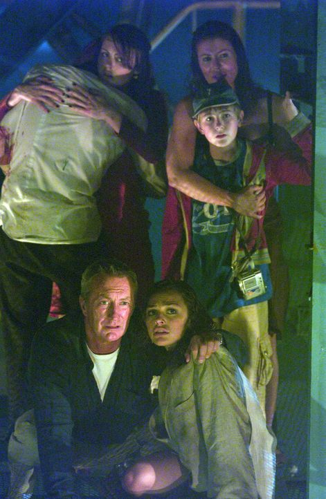 Den Tod vor Augen, bahnen sich (v.l.n.r.) Jeffrey (Bryan Brown), Rachel (Alexa Hamilton), ihr Sohn Dylan (Rory Copus) und Aimee (Tinarie Van Wyk-Loo... - Bildquelle: Hallmark Entertainment