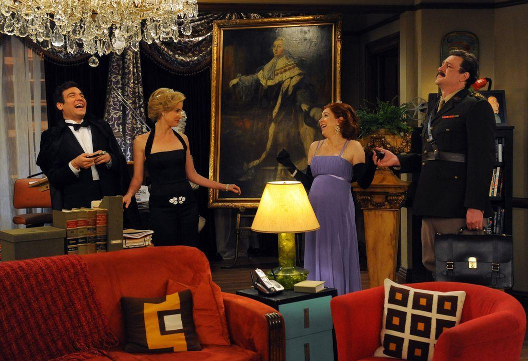 So haben sich die Freunde das Jahr 2006 vorgestellt - doch leider ist alles ganz anders gekommen: Ted (Josh Radnor, l.), Marshall (Jason Segel, r.),... - Bildquelle: 20th Century Fox International Television