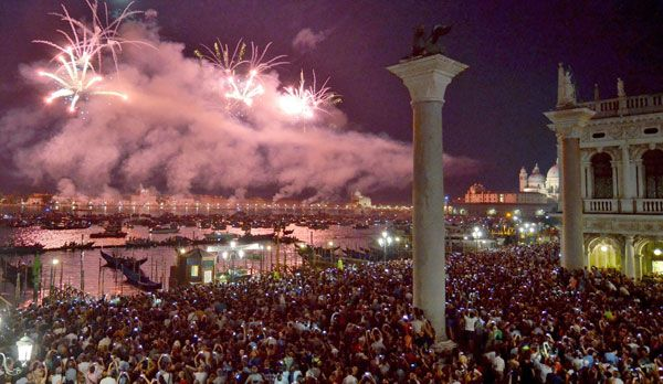 Feuerwerk in Venedig