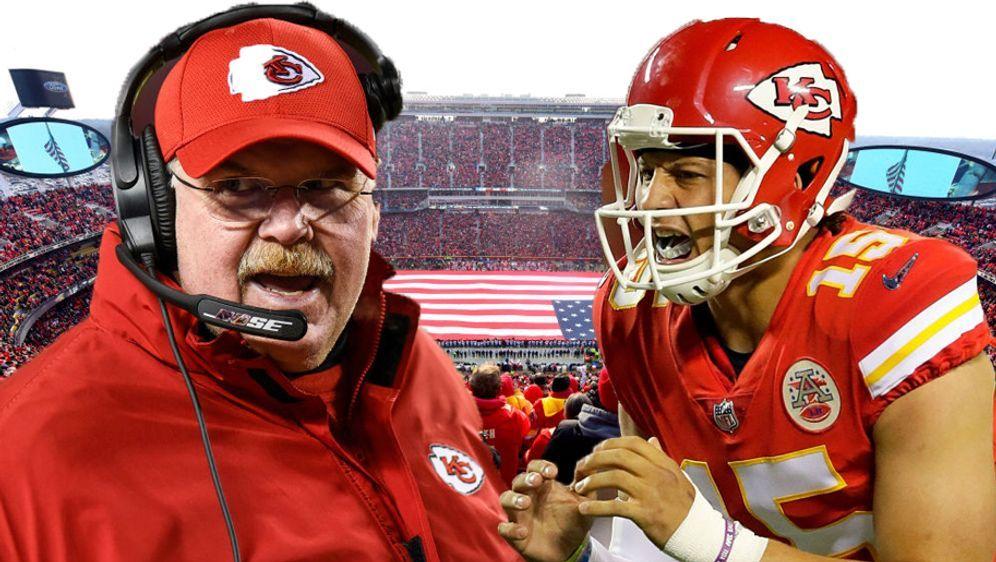 9a3bdb581 Head Coach Andy Reid möchte mit seinem jungen Quarterback Patrick Mahomes  ei... -