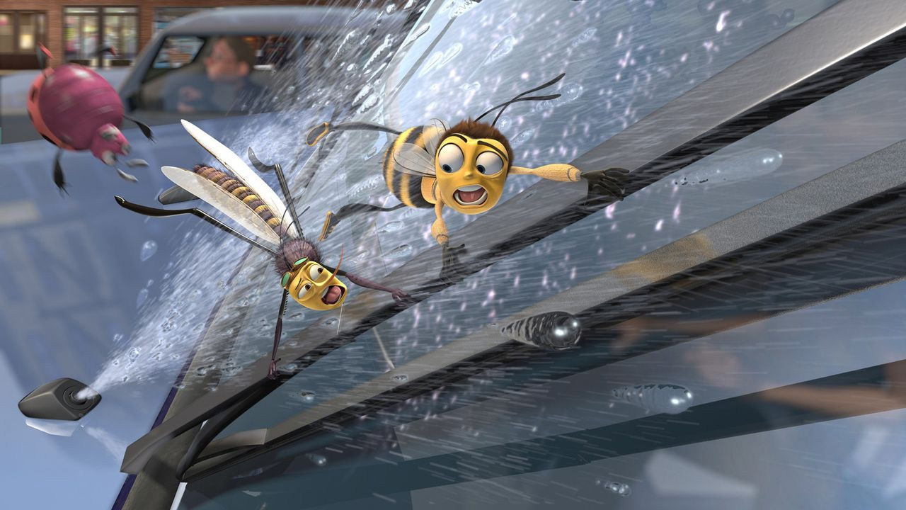 Barry (r.) gerät in New York immer wieder in brenzlige Situationen ... - Bildquelle: BEE MOVIE TM &   2007 DREAMWORKS ANIMATION LLC. All Rights Reserved.