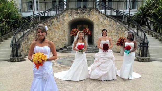 Vier Bräute treten an, im Wettkampf um das schönste Hochzeitsfest: Cathy (2.v...