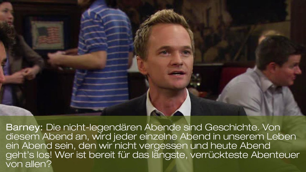 zitat-spruch-quote-how-i-met-your-mother-staffel-7-episode-21-barney-legendaer-foxpng 1600 x 900 - Bildquelle: 20th Century Fox