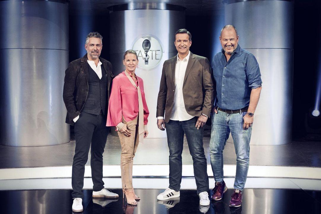 (v.l.n.r.) Roland Trettl; Cornelia Poletto; Alexander Herrmann; Frank Rosin - Bildquelle: Benedikt Müller SAT.1/Benedikt Müller