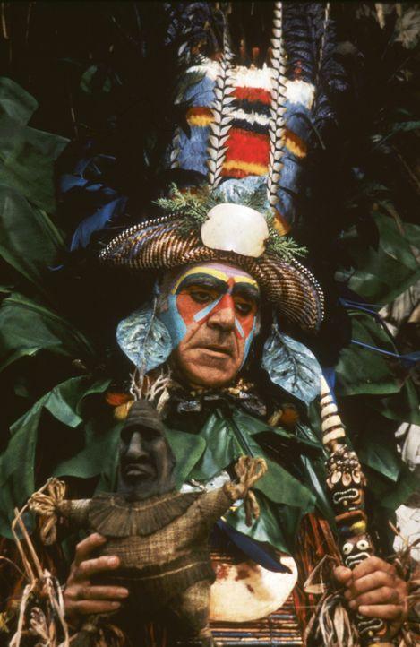 Der Häuptling (Abe Vigoda) ist bereit für die Zeremonie bei der sich Joe in den Vulkan stürzen soll ... - Bildquelle: Warner Bros.