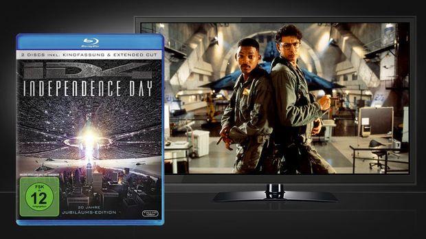 Independence Day - Blu-ray Cover und Szene © Twentieth Century Fox Home Enter...