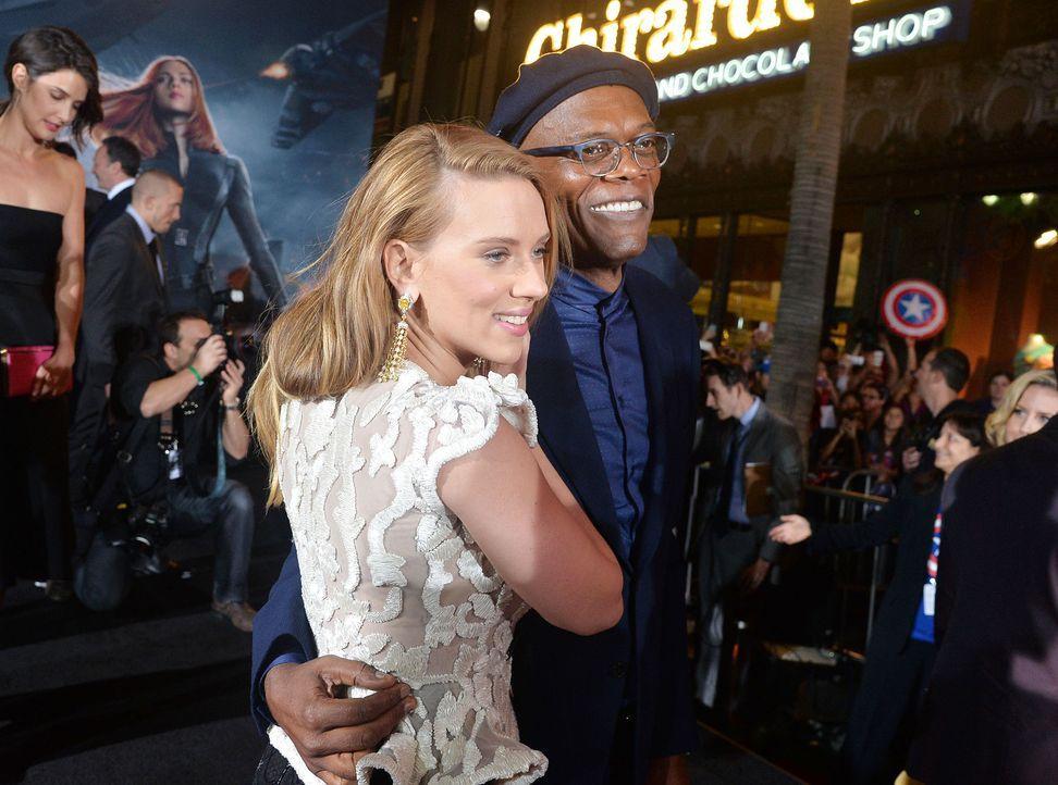 Captain-America-Premiere-LA-Scarlett-Johansson-Samuel-L-Jackson-14-03-14-getty-AFP - Bildquelle: getty-AFP