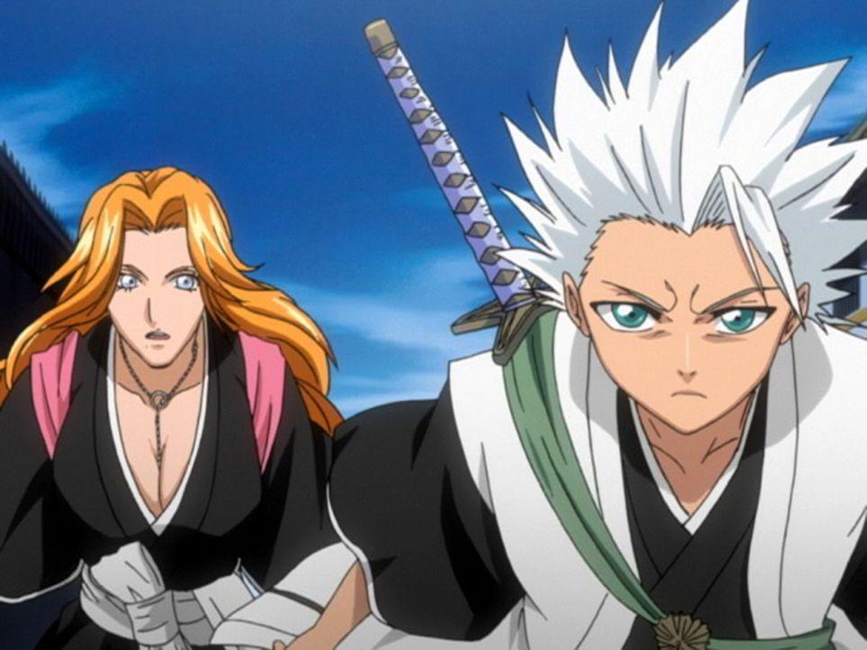 Wird es Kurosaki und seinen Freunden gelingen, Hitsugayas (r.) Unschuld zu beweisen und den wahren Schuldigen zu finden? - Bildquelle: Tite Kubo / Shueisha, TV TOKYO, Dentsu, Pierrot.