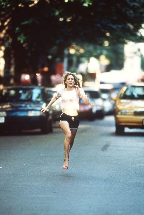 Carrie (Sarah Jessica Parker) rennt um ihr Leben: Pete, Aidans Hund, ist ihr weggelaufen ... - Bildquelle: Paramount Pictures
