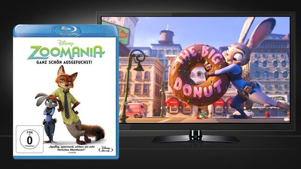 Zoomania - Blu-ray Disc Cover und Szenenbild © Walt Disney Studios Home Enter...