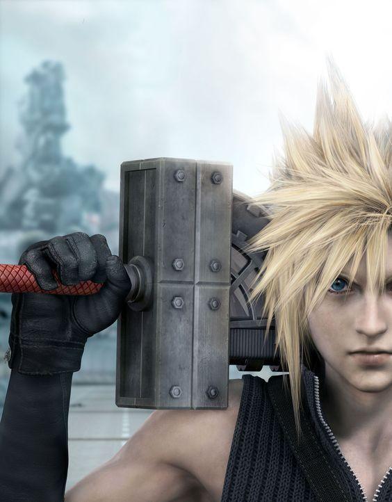 Cloud, der sein Leben als Held hinter sich gelassen hatte, um sich in die Einsamkeit zurückzuziehen, muss noch einmal zum Kampf antreten. - Bildquelle: 2005 Square Enix Co., LTD. All Rights Reserved.