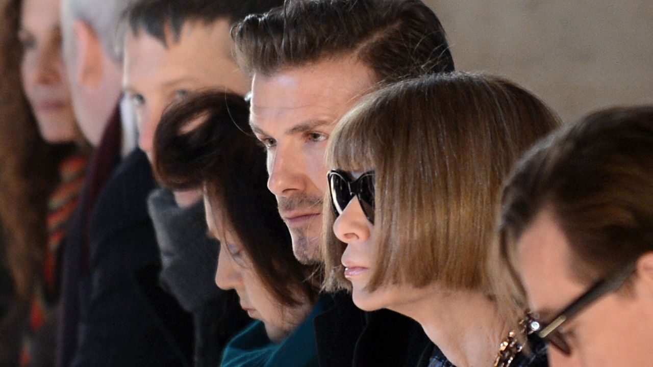 NewYork-Fashionweek-David-Beckham-Anna-Wintour-13-02-10-AFP - Bildquelle: AFP PHOTO/Stan HONDA