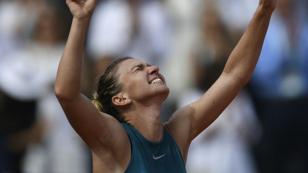 Simona Halep kann ihre Emotionen nur schwer zurückhalten - Bildquelle: AFPSIDCHRISTOPHE SIMON