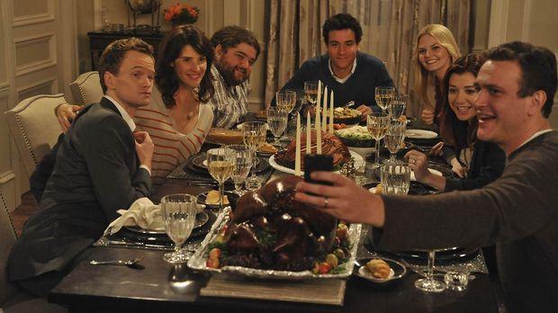 Blitzgiving: (v.l.n.r.) Barney (Neil Patrick Harris), Robin (Cobie Smulders),...