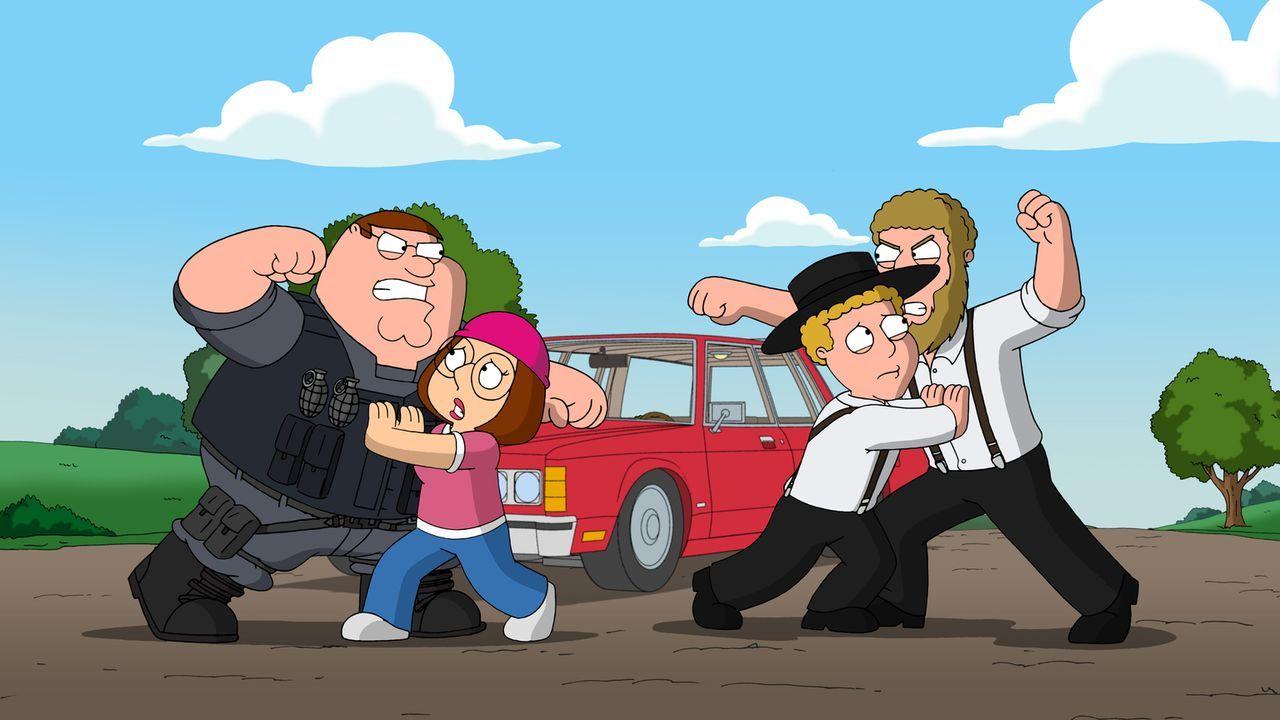 Die Liebe von Meg (2.v.l.) und Eli (2.v.r.) sorgt bei ihren Vätern für einigen Unmut ... - Bildquelle: 2011 Twentieth Century Fox Film Corporation. All rights reserved.