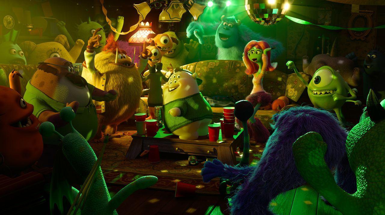 Die Stimmung kocht! Sie haben Musik, Licht und Pizza, was braucht man mehr, um Monster-Spaß zu haben? - Bildquelle: Disney/ Pixar