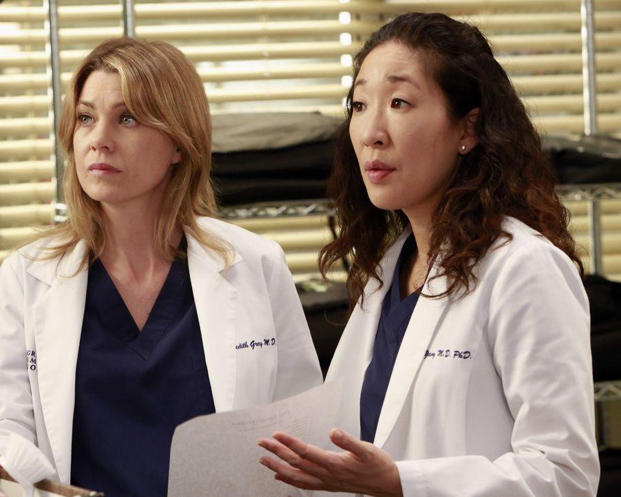 Bei Meredith (Ellen Pompeo, l.) werden einige genetische Marker für Alzheimer festgestellt, woraufhin sie unbedingt ihr Testament aktualisieren wil... - Bildquelle: ABC Studios