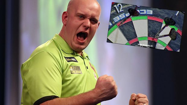 international darts van gerwen wirft zwei neun darter in einem match ran. Black Bedroom Furniture Sets. Home Design Ideas