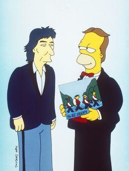 Die Simpsons - Damals hatte Homer (r.) zusammen mit Rektor Skinner, Apu und B...