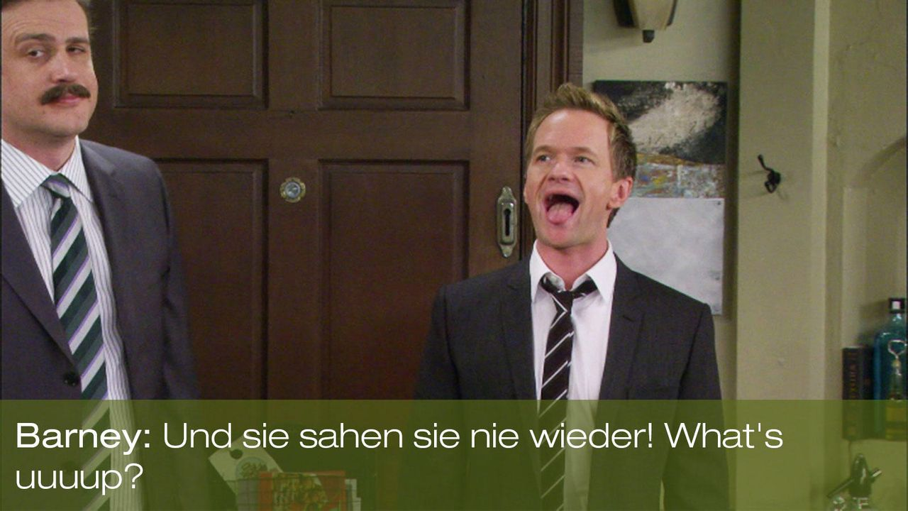 how-i-met-your-mother-zitat-staffel-7-episode-20-trilogie-barney-neil-patrick-harris-whats-up-20th-century-foxjpg 1600 x 900 - Bildquelle: 20th Century Fox