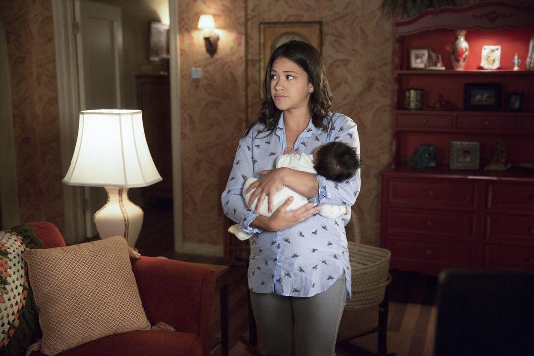 Muss sich auch auf ihre Mutterrolle konzentrieren - was gar nicht so einfach ist: Jane (Gina Rodriguez) ... - Bildquelle: Patrick Wymore 2015 The CW Network, LLC. All Rights Reserved.