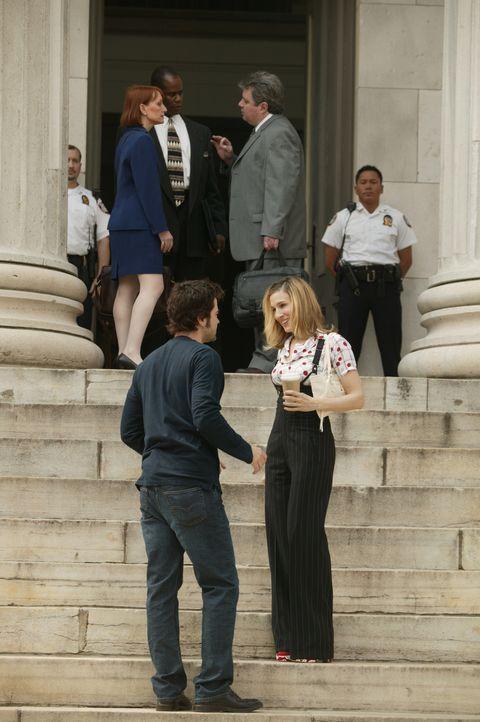 Um ihre Beziehung zu retten, beschließen Carrie (Sarah Jessica Parker, r.) und Jack Berger (Ron Livingston, l.), eine kurze Auszeit zu nehmen ... - Bildquelle: Paramount Pictures